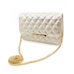 Elegant gold lady chain purse